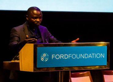 """Me Emmanuel Umpula s'addressant au panel des experts à la quinzième session """"Mary Robinson"""" organisée par """"Business & Human Rights Resource"""" à New York"""