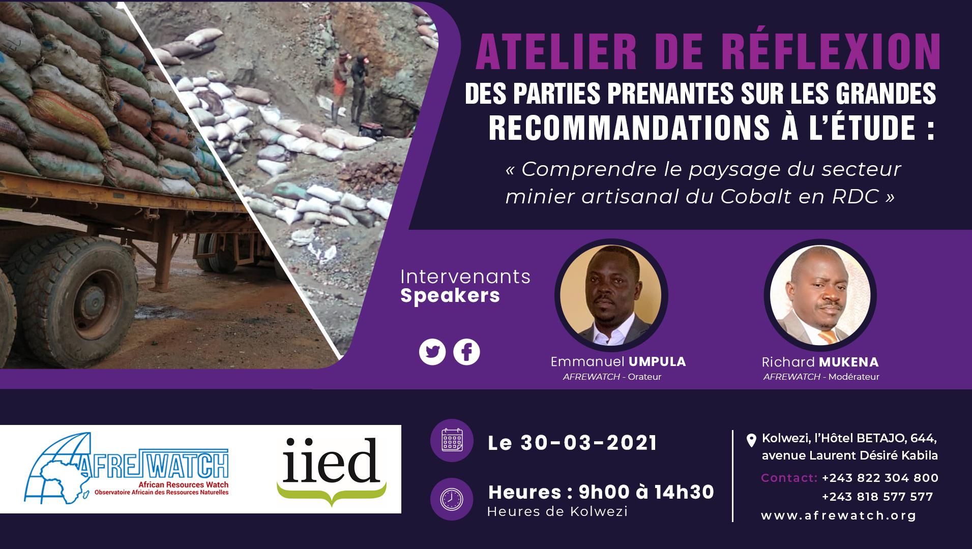 Comprendre le paysage du secteur minier artisanal du Cobalt en RDC